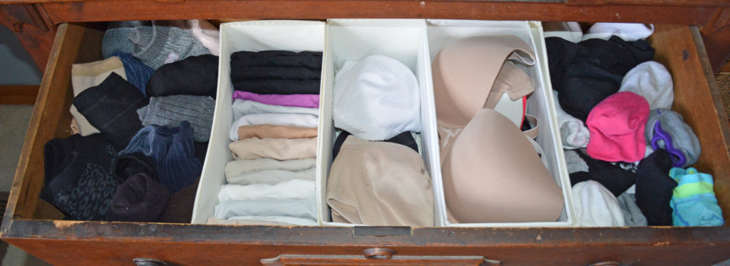 organized socks and undergarments drawer