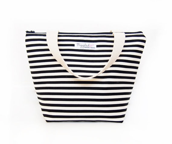 Insulated Lunch Tote Bag, by Piggledee, $38