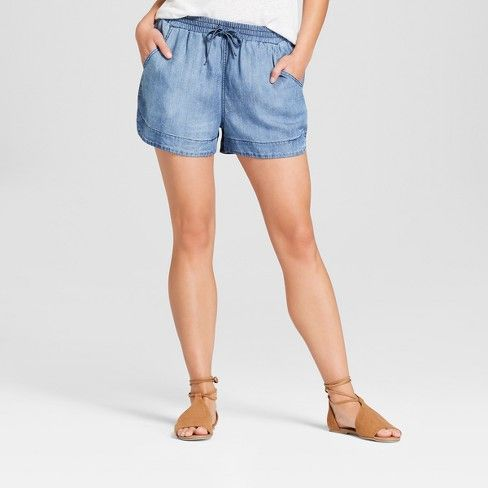 target universal thread chambray pull on short
