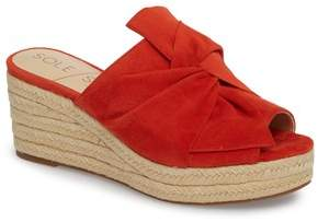 Sole Society Carina Tie Espadrille Wedge