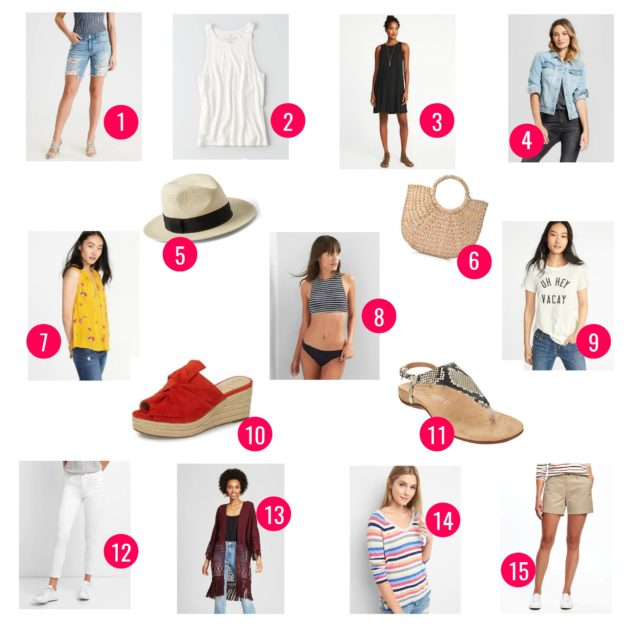 Beach Vacation Capsule Wardrobe 15 Items