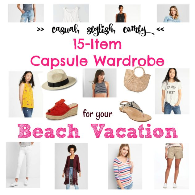 beach vacation capsule wardrobe