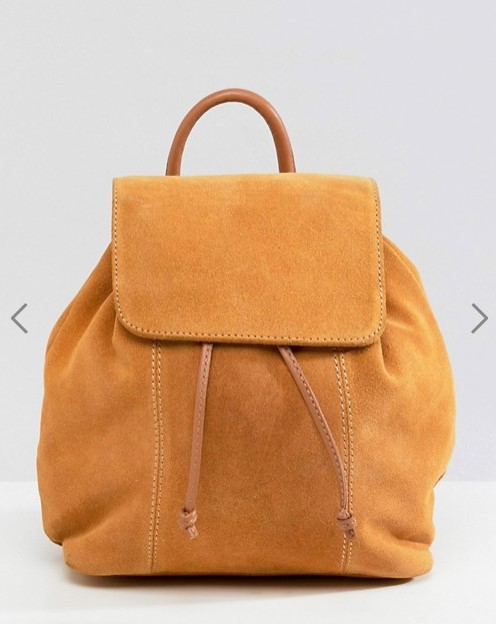 asos suede backpack