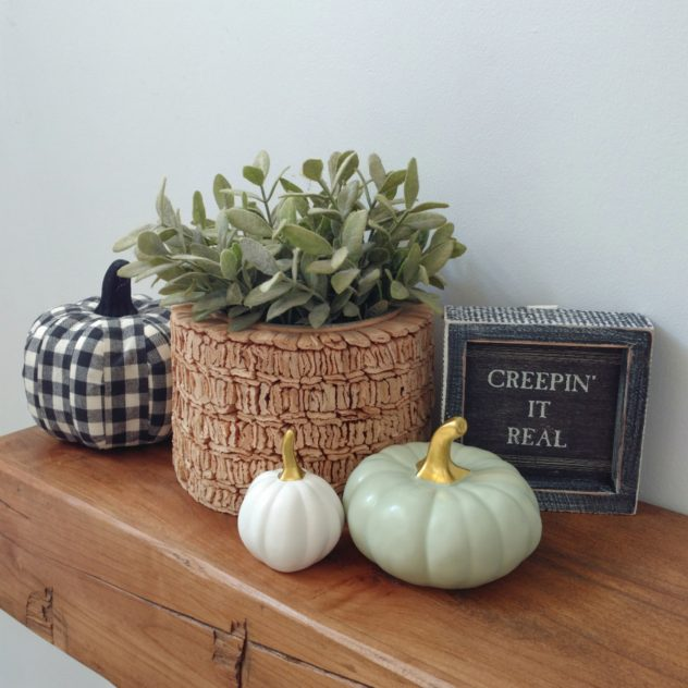 Black White Green Fall Decor