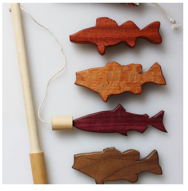 Magnetic Wood Fishing Set