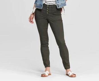 target olive green button fly jeans