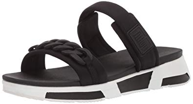 FitFlop Heda Chain Slide in Black