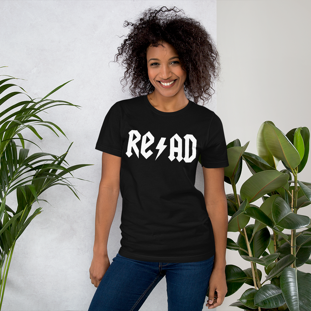 Read teacher tee rock and roll