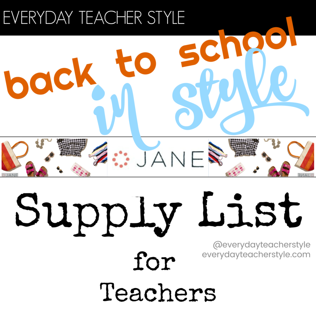 Affordable back to school teacher style guide