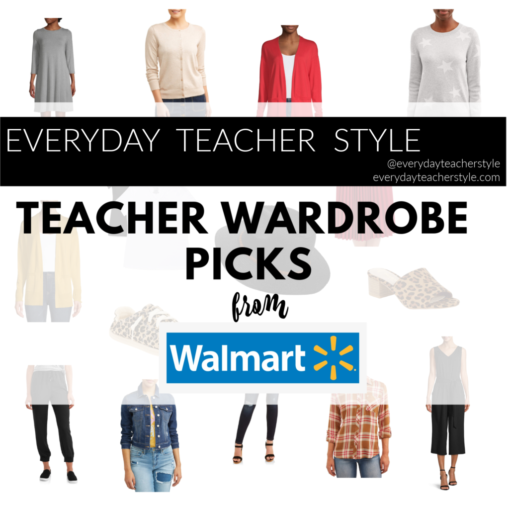 Affordable teacher outfit wardrobe pics from Walmart for back to school