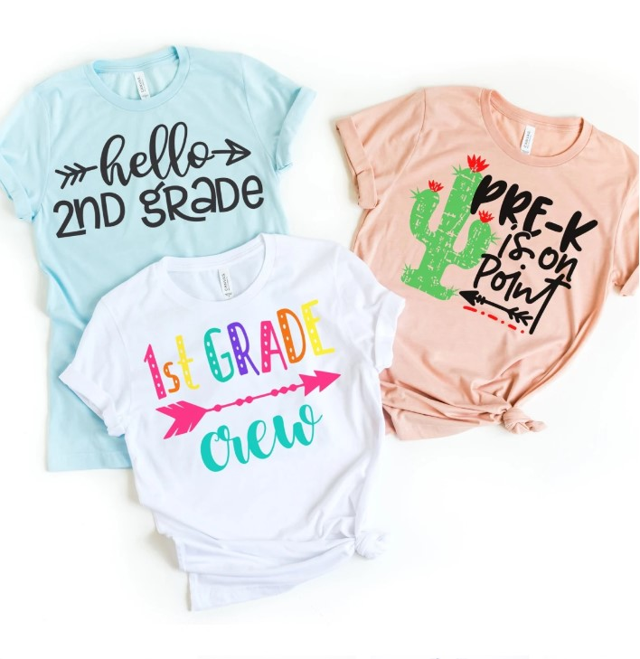 Teacher grade level tees