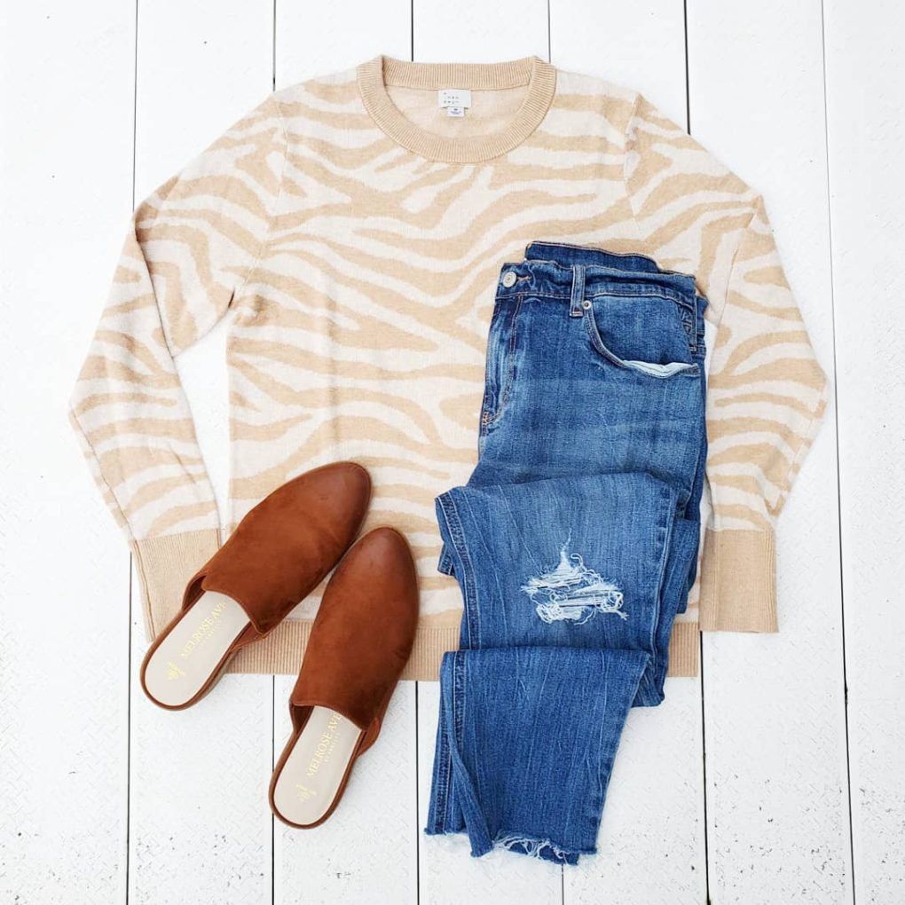 Neutral zebra print sweater A New Day Target