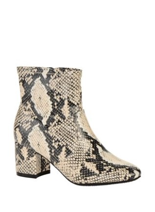 Snake print ankle boots booties affordable
