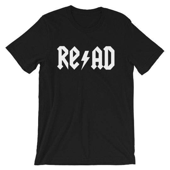 Everyday Teacher Style Rock, Roll, and Read tee