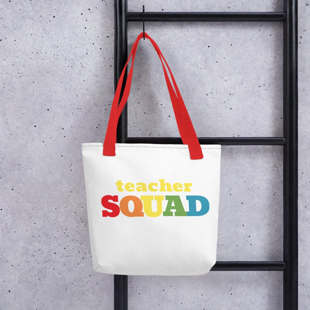 Teacher Squad Tote Bag Everyday Teacher Style