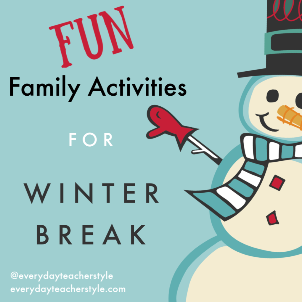 Fun family activities for winter break! Things to do with kids over Christmas vacation