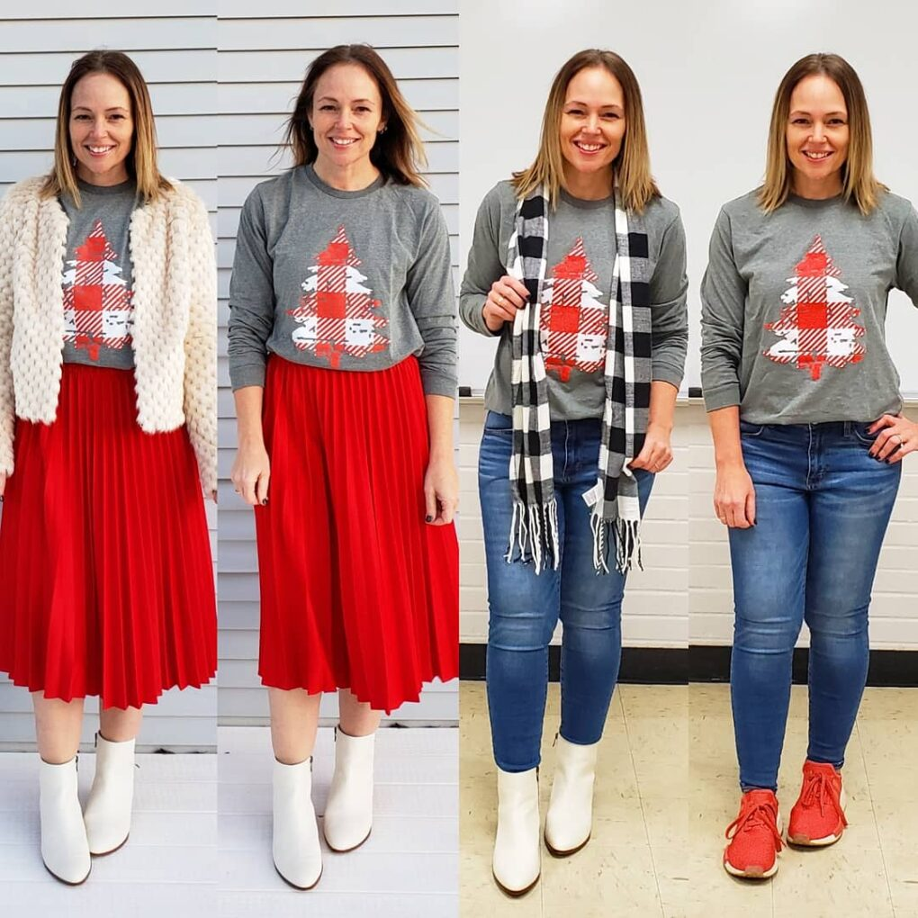 casual holiday Christmas outfit ideas