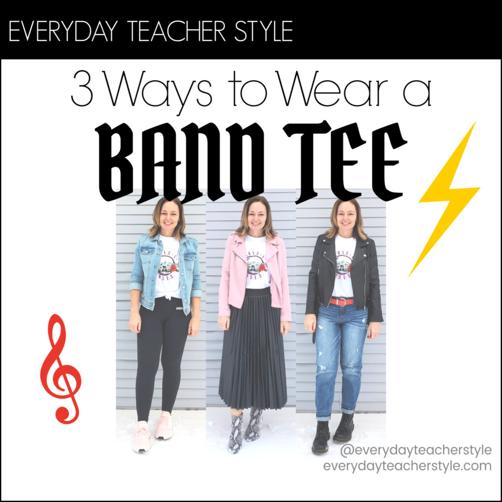 3 Ways to Wear a Band Tee