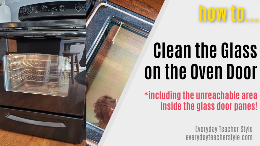 How to clean in between the oven door glass panes - easy