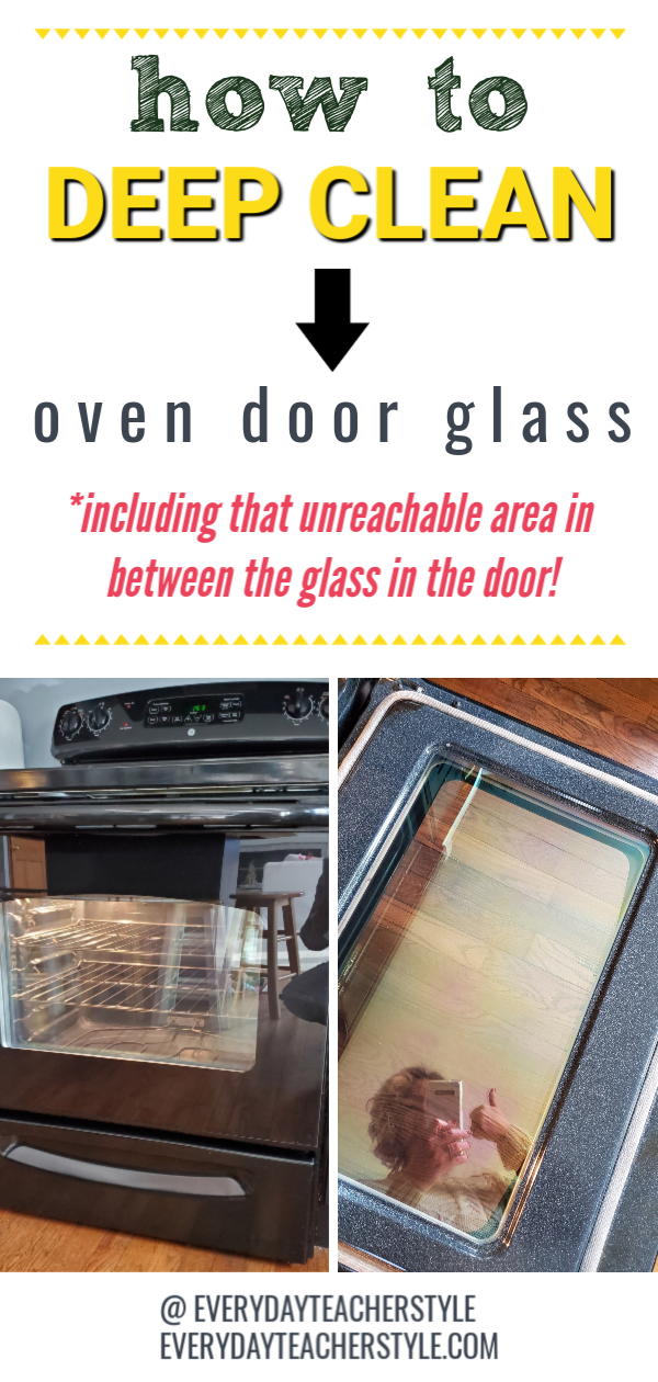 easy how to deep clean oven door glass