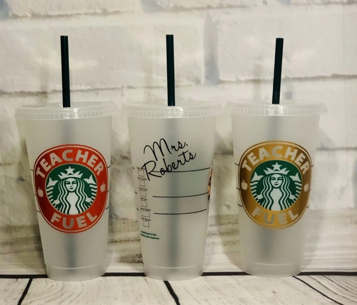 personalized starbucks venti cups for teachers - gift ideas