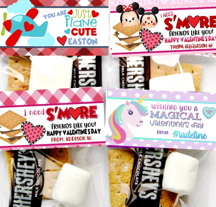Jane Valentine's Day s'mores valentine kits personalized