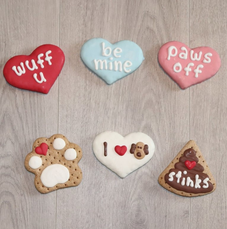Valentine's Day gourmet dog biscuits