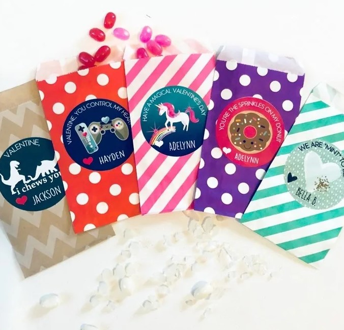 Jane valentine's day personalized treat bag kit