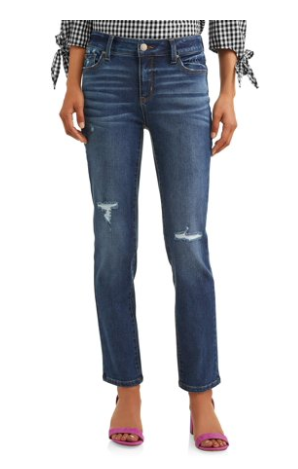 Walmart Time and Tru midrise straight jeans