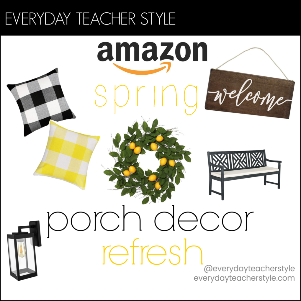 Everyday Teacher Style Amazon Budget Front Porch Decor Spring Refresh image