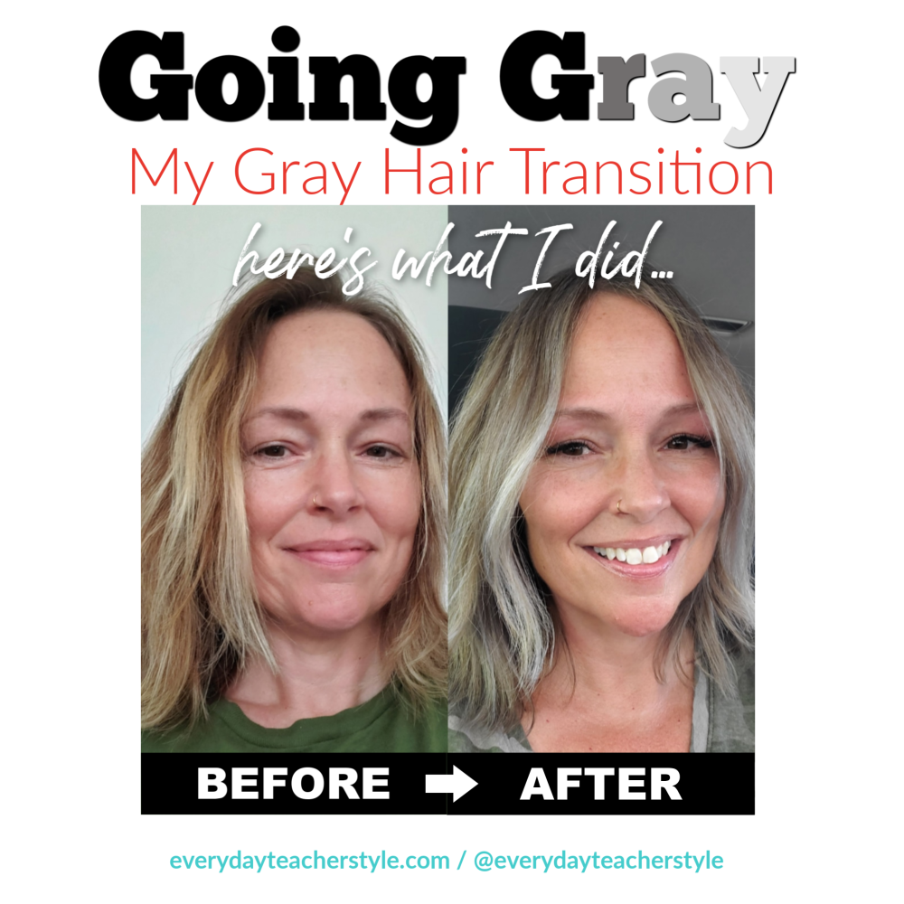 Going Gray My Gray Hair Transition Image grey silver