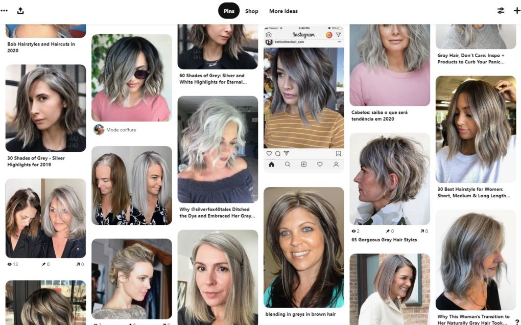 Everyday Teacher Style Pinterest Board featuring Gray Grey Silver Hair Ideas