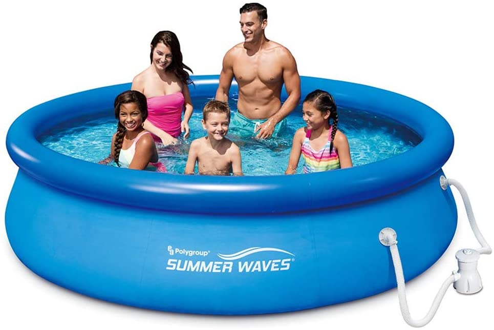 outdoor summer activities quick set above ground pool example