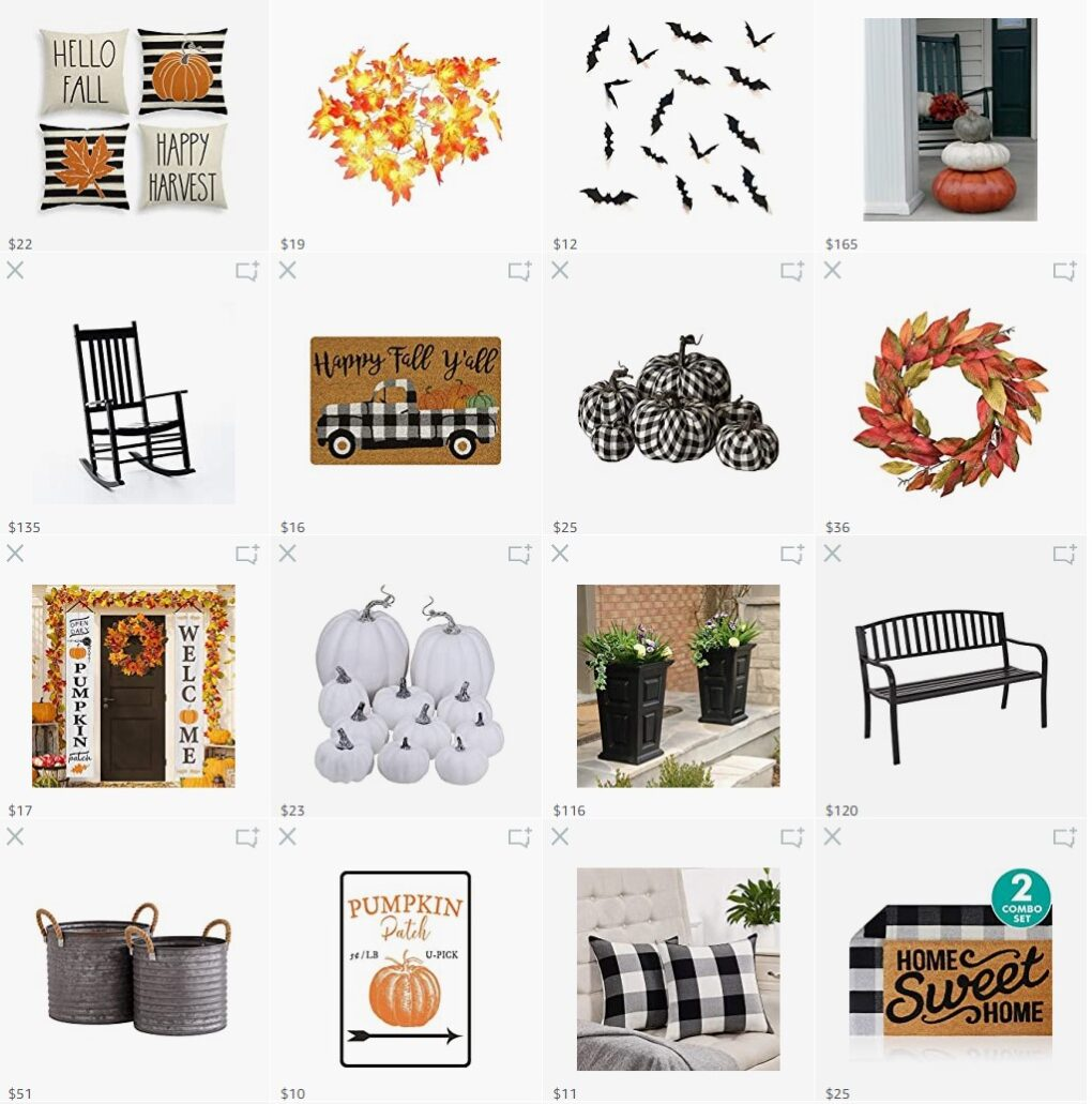 Amazon fall decor picks items