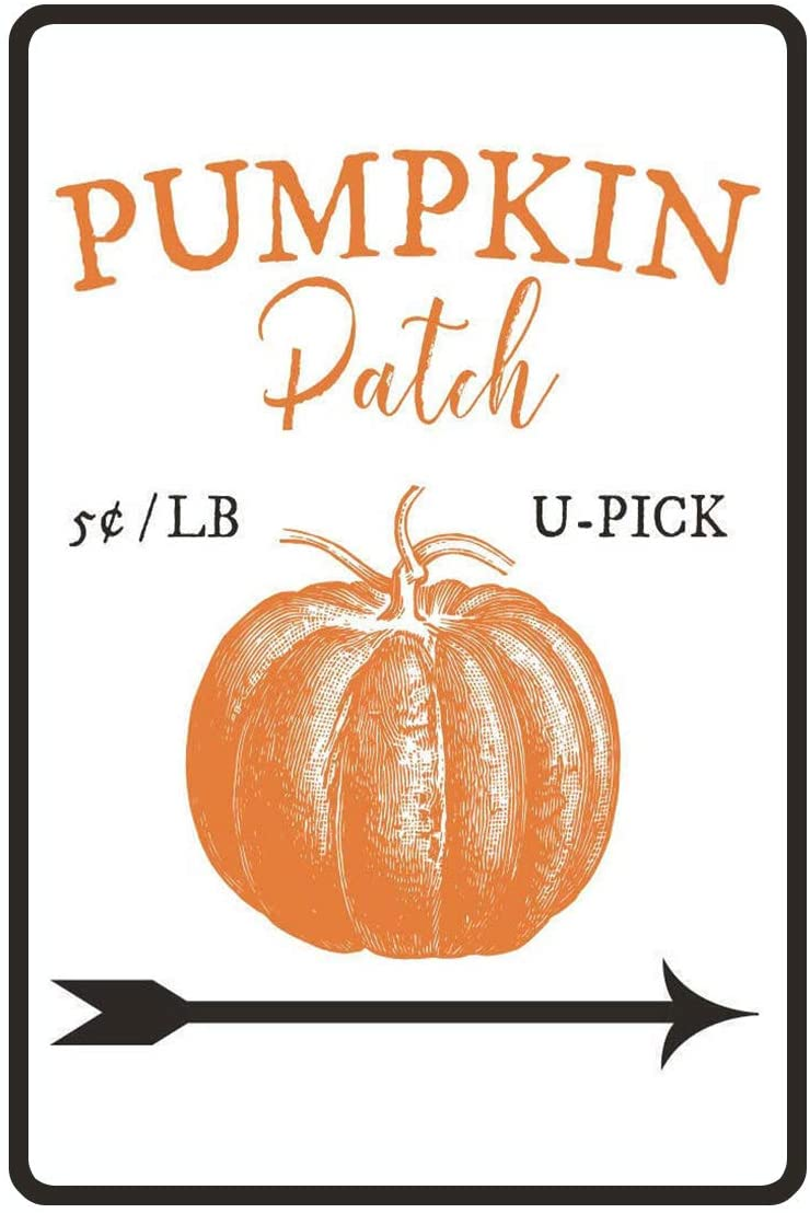 metal pumpkin patch sign fall decor halloween