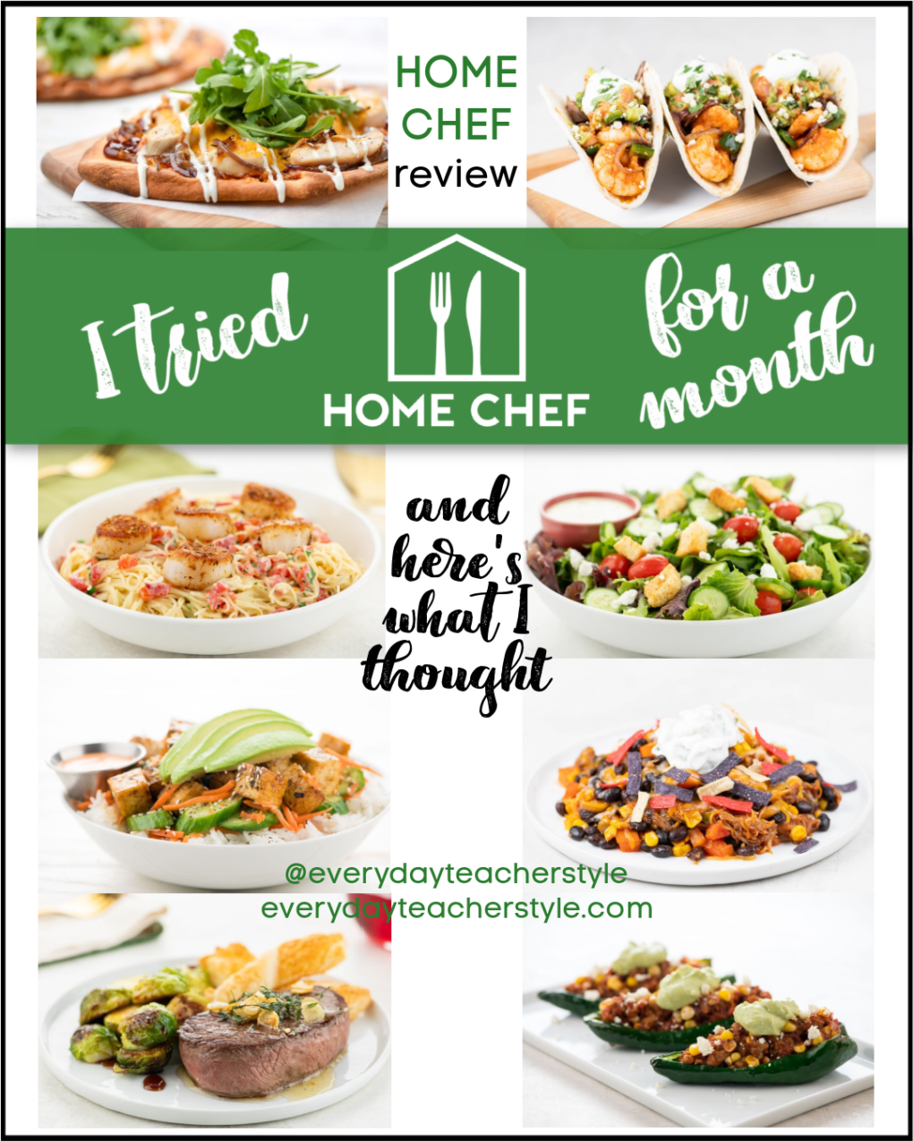 Everyday Teacher Style Home Chef Review Blog Post Image