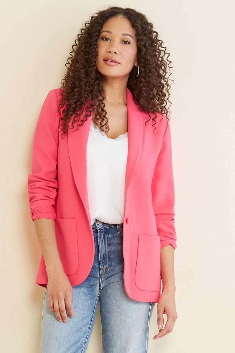 Evereve hot pink blazer