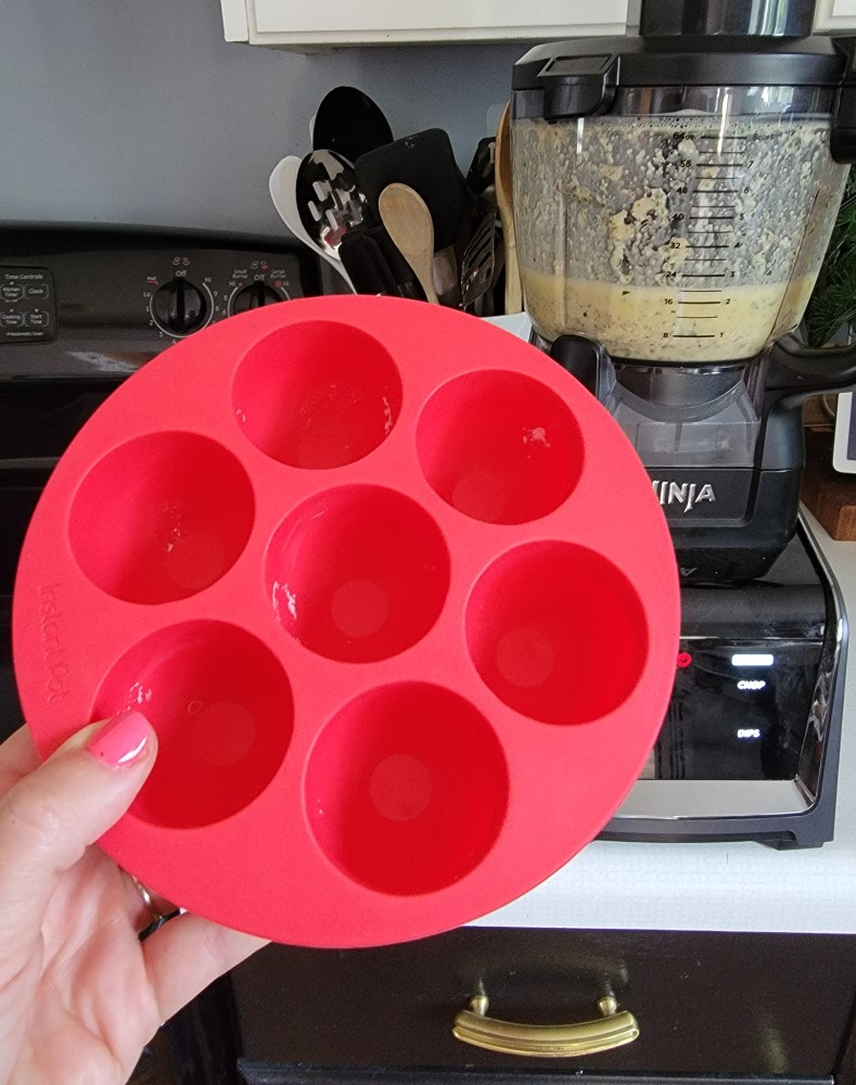 Instant Pot Silicon Egg Bites Tray Mold with Lid and Ninja Blender image