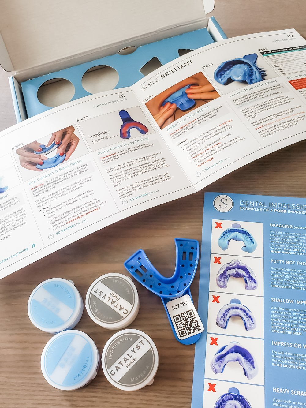 Smile Brilliant DIY Impression Kit with Instructions and Materials