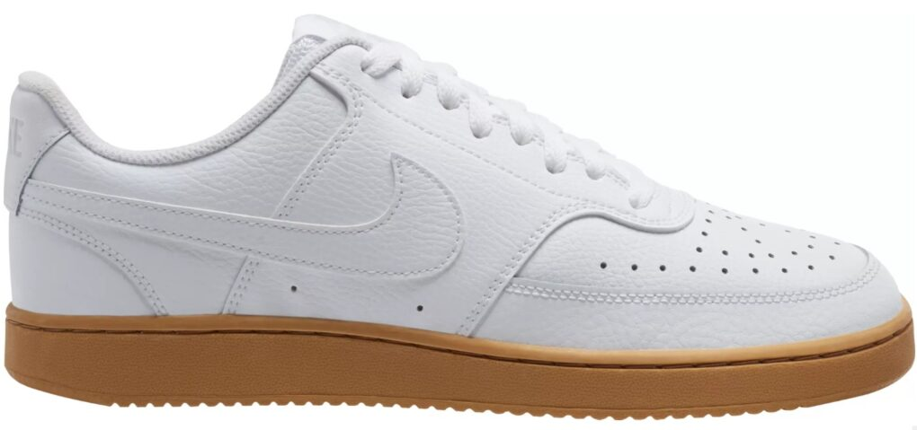 Nike Court Vision Sneakers in White and Gum