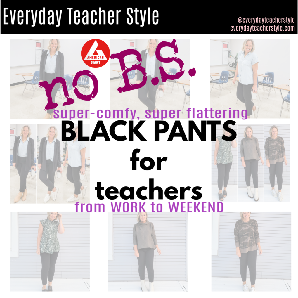 THE best black pants for teachers and moms are American Giant's no-bs ponte pants